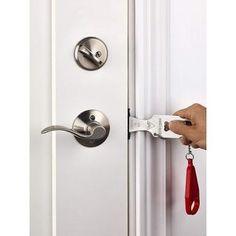 Portable Hotel Door Lock Locks Self-Defense Door Stop Hotel Door Locks, Motel Room, Door Stopper, Security Door, Bathroom Doors, Self Defense, Cool Items, Traveling By Yourself, Door Handles