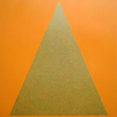 James R Ford, Green scribble filling an orange triangle, 2010 Scribble, Fields, Triangle, Ford, Green, Doodles