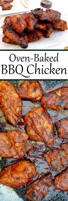 Chicken slathered in delicious BBQ!