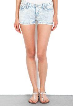 m2f Acid Wash Cut Off Shorts in Azur  $108