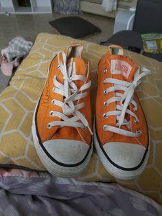 0b52c5cbfb4 Orange converse men size 8 pretty good condition i worn them three times.   fashion