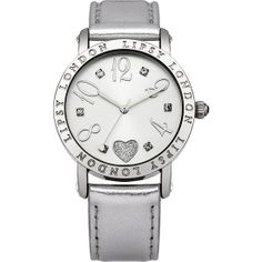 Lipsy - Ladies All Silver Croc Watch - LP151  RRP: £25.00 Online price: £22.00 You Save: £3.00 (12%)  www.lingraywatches.co.uk