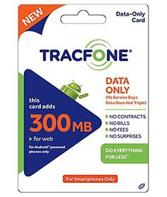 Amazon.com: Tracfone Data 300mb Pin Add-On (Data Only For Android Smartphones): Cell Phones & Accessories
