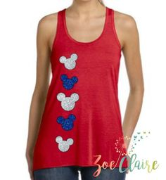 A personal touch means so much! Channel your inner Disney Princess by ordering a glitter Minnie Mouse tank top, Minnie Mouse Shirt, or Mickey ears for your next family vacation or just to show your inner Disney love. People will smile, point and ask where you got these awesome shirts!   SHIRT INFO -------------------------------------------  This listing is for one (1) high quality tank top.  Its made of a very soft terry material making it perfect for your trip to Disney World or even…