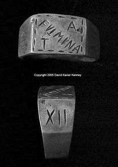 ROMAN LEGIONARY RING OF THE XII FULMINATA (THE THUNDERING LEGION) COMMEMORATING THE BATTLE FOR SELECIA IN 164 AD 164 AD