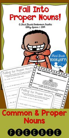 Classroom Freebies: Proper Nouns Printables