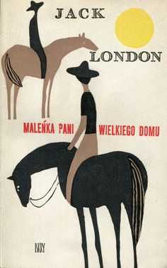 Vintage Polish Book Cover by Janusz Stanny for Jack London.