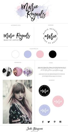 Color palette and brand board Branding Your Business, Branding Kit, Business Design, Corporate Identity, Web Design, Website Design, Brand Identity Design, Branding Design, Watercolor Branding