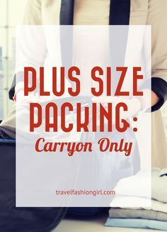 Plus Size Packing Carryon Only for 4 Weeks – travel outfit plane Carry On Packing, Packing For Europe, Packing Tips For Travel, Travel Essentials, Packing Hacks, Luggage Packing, Travel Necessities, Vacation Packing, Cruise Vacation