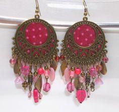 Brinco-à-Brac Earrings: Brincos XL rose dots