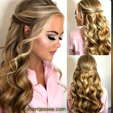 Beautiful Half-up Prom or Pageant Hair – Hair Styles Formal Hairstyles, Down Hairstyles, Hairstyles Haircuts, Wedding Hairstyles, Pageant Hairstyles, Prom Hairstyles For Long Hair Half Up, Funky Hairstyles, Pageant Hair Updo, Easy Prom Hairstyles