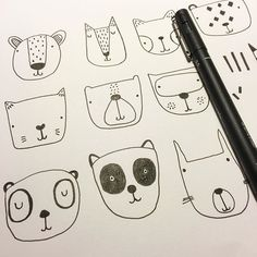 Currently on my desk....  #faces #linedrawings #sketchbook #characters