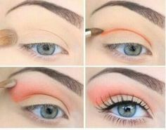Coral eyeshadow pictorial