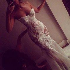 Transparent mermaid wedding dress