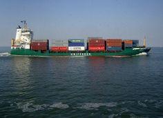 Transport ... auf der Nordsee vor der Elbmündung, Deutschland