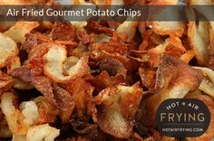 These gourmet potato chips (aka crisps) made in a paddle-type air fryer such as an Actifry™ with just one tablespoon of fat taste better than if the