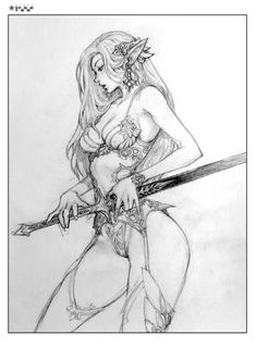 본문 이미지 I like the sword design. Manga Drawing, Drawing Sketches, Sketch Art, Fantasy Character Design, Character Art, Arte Game Of Thrones, Art Du Croquis, Sexy Drawings, Realistic Drawings