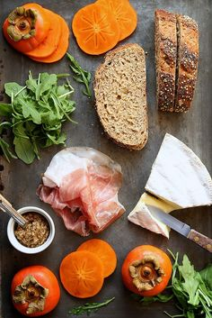 italianpoppies:  Persimmon & Prosciutto Sandwich