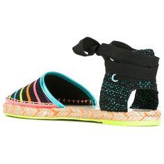 Sophia Webster Juana espadrilles (4,640 EGP) ❤ liked on Polyvore featuring shoes, sandals, espadrilles shoes, black espadrille sandals, black espadrilles, multi coloured shoes and sophia webster shoes