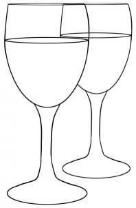 Wine glass outline...