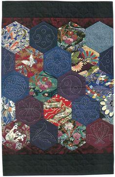 Sashiko and Japanese fabric panels Martingale - Quilting with Japanese Fabrics eBook Sashiko Embroidery, Japanese Embroidery, Hand Embroidery Patterns, Embroidery Stitches, Embroidery Designs, Embroidery Kits, Embroidery Supplies, Embroidery Books, Stitching Patterns