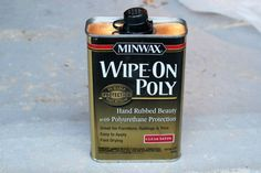 minwax-wipe-on-poly-diyonthecheap Wipe On Poly, Oak Table Top, Minwax, Pedestal, How To Apply, Antiques, Antiquities, Antique