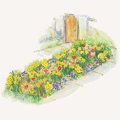 Spring Sidewalk Garden