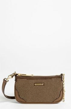 Burberry Metallic Studs Suede & Leather Pouch | Nordstrom