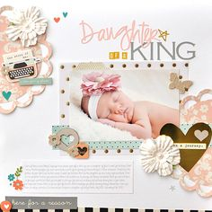 #papercraft #scrapbook #layout My Creative Scrapbook Simple Stories I am Layout by Ginger Williams.
