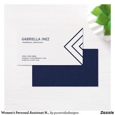 81 best business cards for women images on pinterest lipsense womens personal assistant navy blue and white business card colourmoves