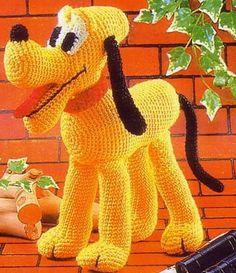 Disney Pluto Amigurumi Pattern in English E-book by FunHandicraft Amigurumi Free, Crochet Amigurumi, Knit Or Crochet, Cute Crochet, Amigurumi Patterns, Amigurumi Doll, Crochet For Kids, Crochet Crafts, Crochet Dolls