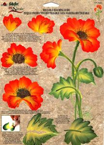 One Stroke Poppies Teaching Guide Packet by Folk Art One Stroke Painting, Tole Painting, Watercolor Paintings, Painting Flowers, Face Paintings, Painting Lessons, Painting Tips, Painting Techniques, Painting Tutorials