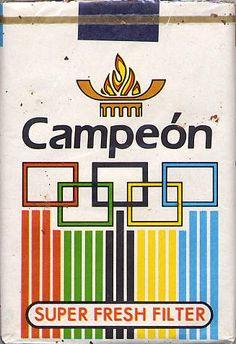 Campeón #vintage #cigarette #pack #design