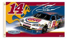 NASCAR Tony Stewart #14 Burger King 2-Sided 3-by-5 Foot Flag with Grommets by BSI. $28.00. Support your favorite driver by hanging this 3-by-5-foot 2-sided flag from B.S.I Products. This high-quality flag is made of durable polyester and is designed with 2 heavy-duty metal eyelets so it is easy to display. The officially licensed flag is decorated in the team colors and proudly displays the driver's name, car number, replica signature, primary sponsor logo and car. ...