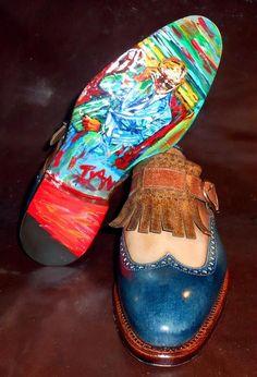 Handmade shoes for Lino Ieluzzi made by Italian shoemaker Ivan Crivellaro