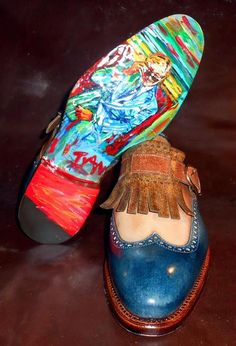Handmade shoes for Lino Ieluzzi made by Italian shoemaker Ivan Crivellaro