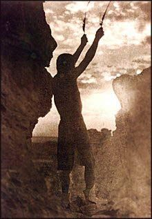 Offering To The Sun. Photo by Edward S. Curtis, 1925. San Ildefonso.