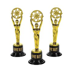 """These could be given to all participants & labeled """"you're a star"""" or something. $11/doz Movie Buff Gold Trophies - OrientalTrading.com"""