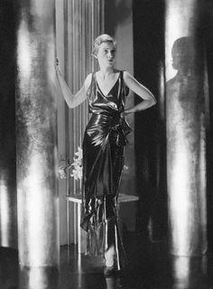 1930 photograph by George Hoyningen-Huene;  Elsa Schiaparelli gown