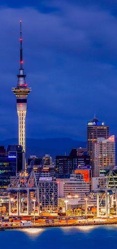 Auckland City's Skyline as seen from Mt Victoria in Devonport, NZ