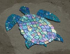 Glass Mosaic Sea Turtles