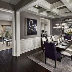 Ideas For Trendy Dinning Room Inside Kinds Dining Room Wainscoting, Dining Room Walls, Dining Room Design, Room Wall Colors, Paint Colors For Living Room, Living Room Decor, World Of Interiors, Formal Dinning Room, Style Deco