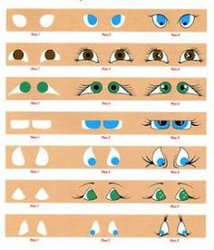 How to paint doll's eyes