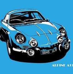 Car Design Sketch, Car Sketch, Alpine Car, Alpine Renault, Automobile, Car Man Cave, Garage Art, Car Illustration, Car Posters