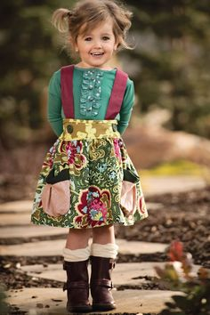 Sewing For Babies Persnickety Clothing - Emerald Pine Charlie Top in Green - Persnickety Clothing - Emerald Pine Charlie Top in Green Outfits Niños, Baby Outfits, Toddler Outfits, Kids Outfits, Little Girl Outfits, Little Girl Fashion, Toddler Fashion, Kids Fashion, Girls Boutique