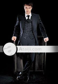 Man Wedding Apparel Brocade Groom Wear Suit Set 2Pcs for you