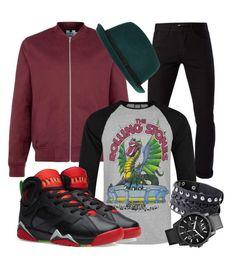 rockin j's by jeffrie-st-james on Polyvore featuring polyvore 3x1 Topman Armani Exchange River Island mens men men's wear mens wear male mens clothing mens fashion