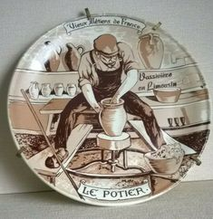 Vieux Metiers De France (Old Crafts of France) Display Plate The Potter   P1085
