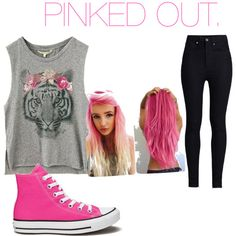 pink by sraley on Polyvore featuring polyvore fashion style Rodarte Converse