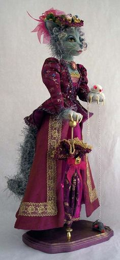 Beautifully done Victorian Cat doll